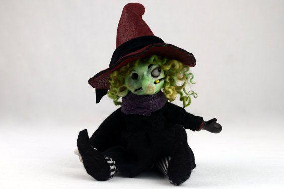 Ooak Halloween art doll ETHEL artist doll creepy cute handmade | Etsy