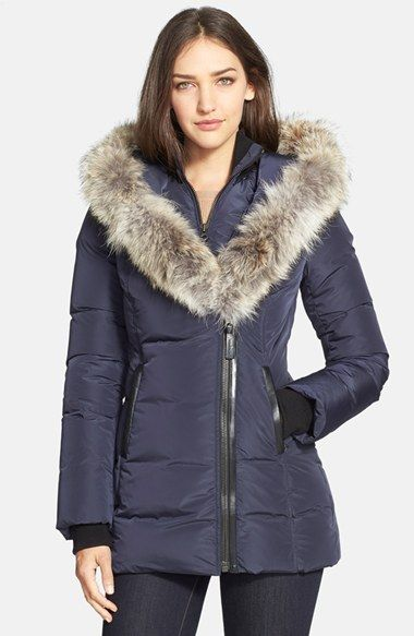 6334e52ea6bc Mackage  Adali  Fitted Down Coat with Genuine Coyote Fur Trim available at   Nordstrom