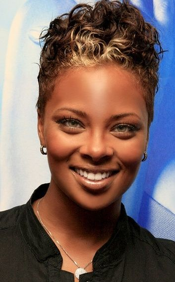 Short Natural Hairstyles For Black Women With Round Faces Short