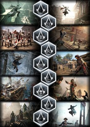 Assassins Creed Poster All Games By Gingerjmez Deviantart Com On Deviantart Baba