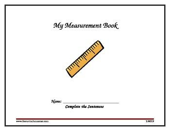 Digital Printable 2nd Grade Measurement Book Aligned With