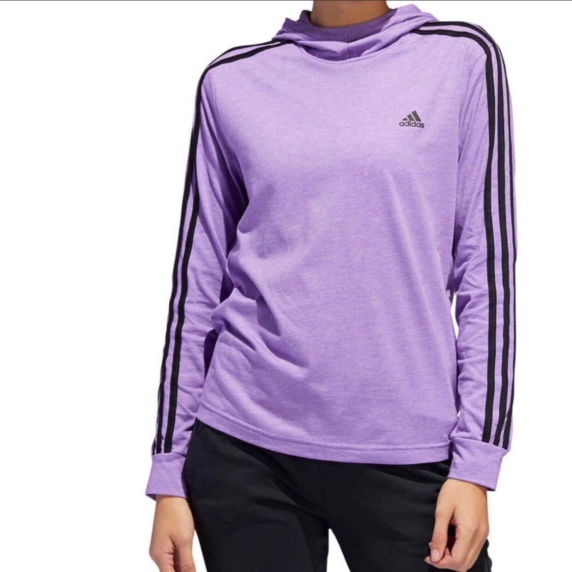 Adidas Women S Hoodie Lavender Purple Lg On Mercari Adidas Hoodie Women Adidas Hoodie Hoodies Womens [ 1125 x 1125 Pixel ]