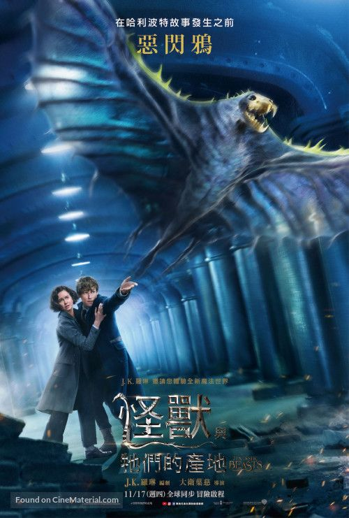 Fantastic Beasts And Where To Find Them Chinese Movie Poster With