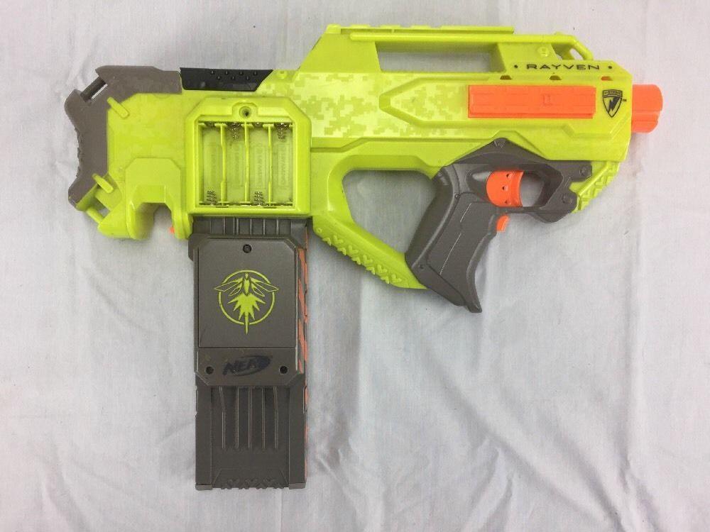 Nerf N-Strike Rayven Raven Neon Dart Blaster w/ 18 Max Dart Clip