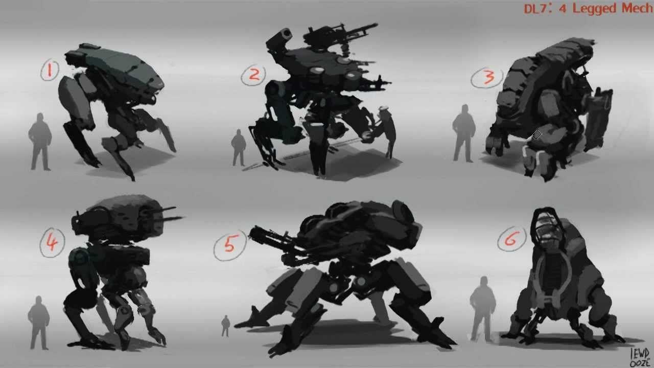 4 Legged Bot Concept Art