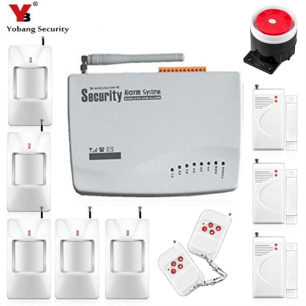 YobangSecurity English Russian Home Security Wireless Wired GSM-10A ...