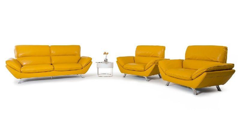 Yellow Genuine Leather Sofa Set Genuine Leather Sofa Leather Sofa Set Leather Sofa