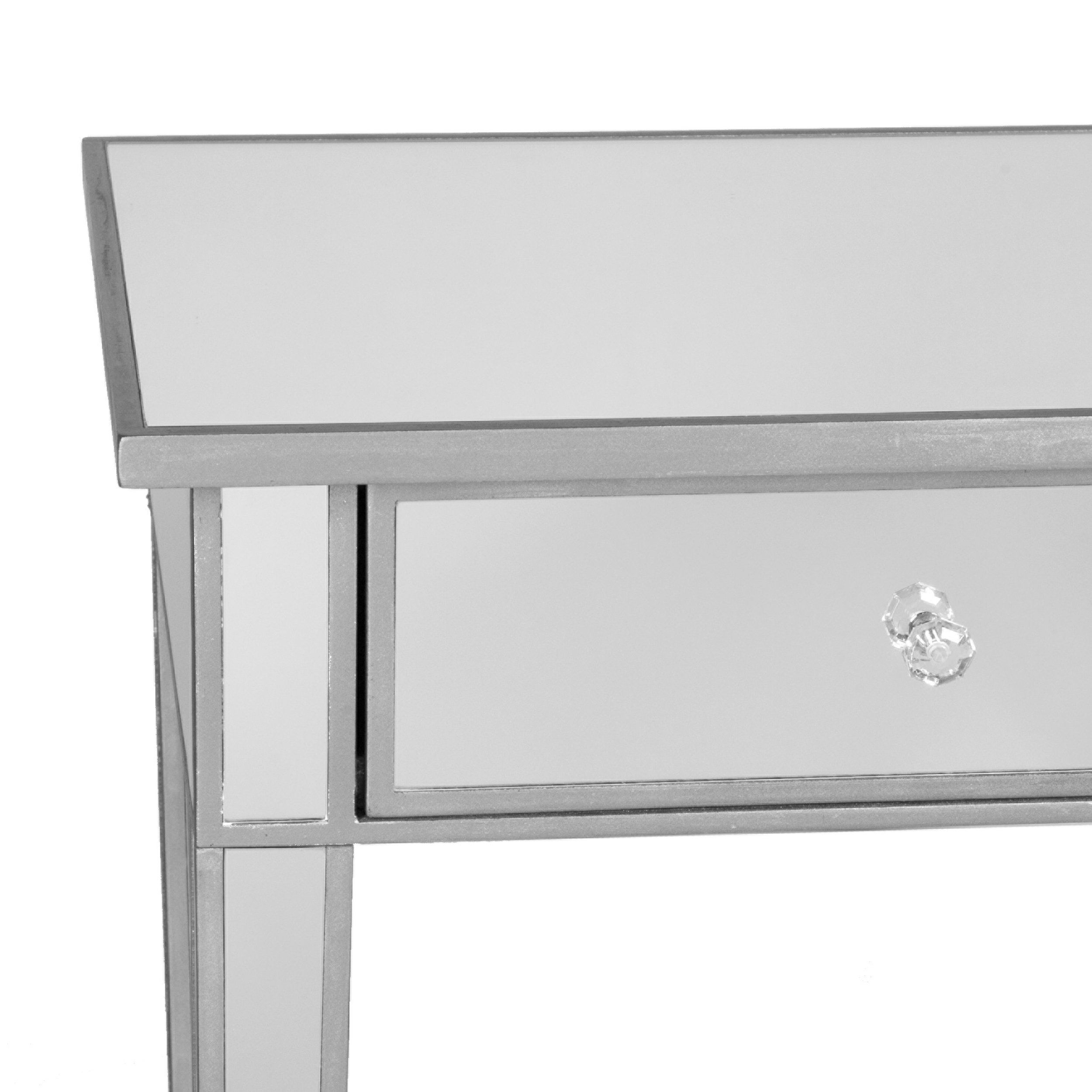 Southern Enterprises Mirage Mirrored 2 Drawer Media Console Table