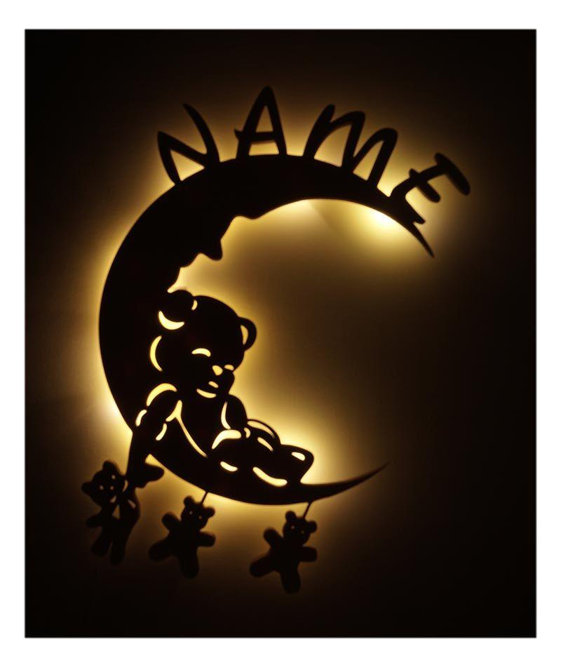 Bar Auf Mond Teddybar Zur Geburt Nachtlicht Geschenke Mit Namen Ausgefallene Geschenke Zur Geburt Originelle Geschenke Zur Geburt