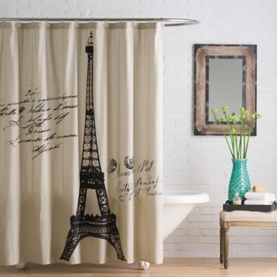 Anthologya Paris Cotton Shower Curtain