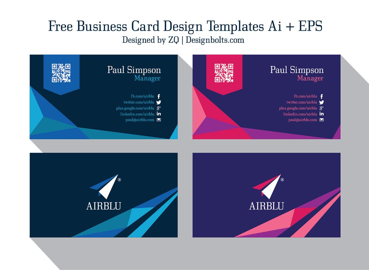 2 Free Professional Premium Vector Business Card Design Templates Ai Eps Create Business Cards Free Business Card Design Templates Free Business Card Design