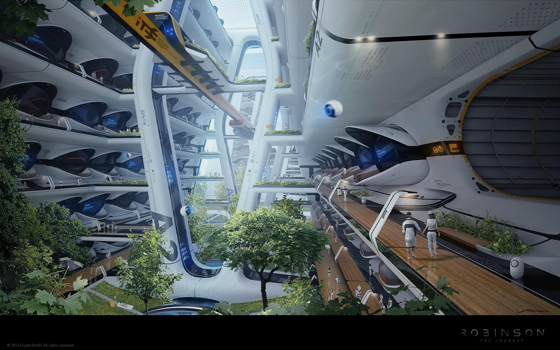 Futuristic Spaceship Concept Art