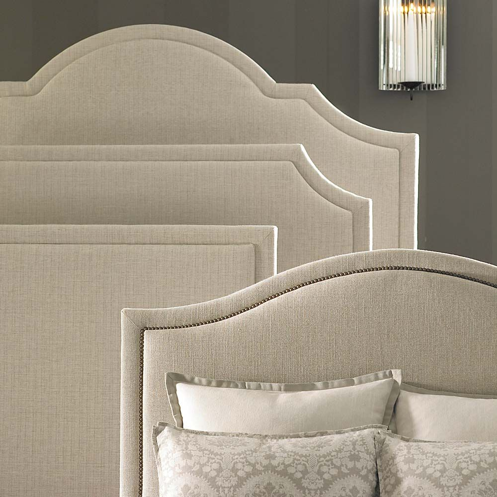 Hgtv home custom upholstered beds by bassett furniture for Headboard patterns