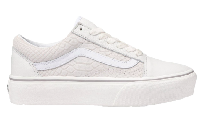 Vans Women Old Skool Platform Snake Leather Lace-Up Sneakers, Snake ...
