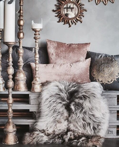 Pink Interior And Grey Image Rose Gold Bedroom Gold Bedroom Living Decor