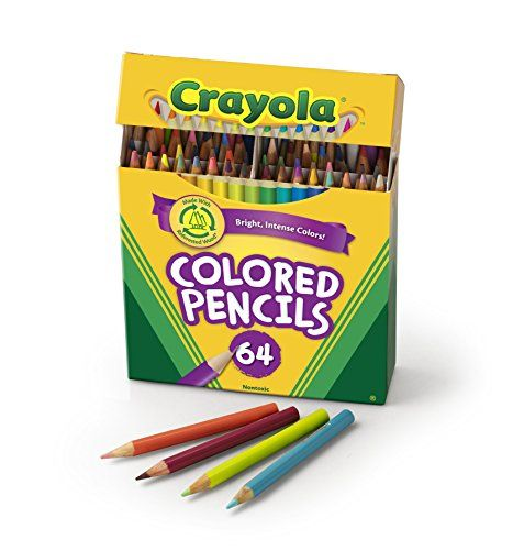 Crayola 64 Ct Short Colored Pencils Kids Choice Colors 2016