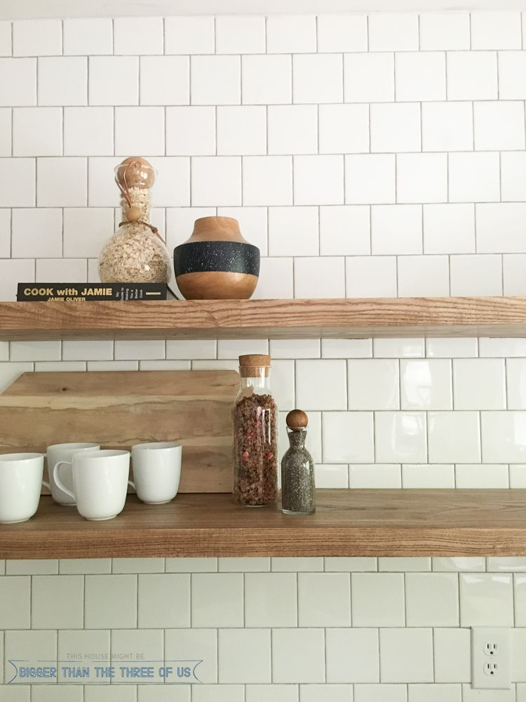 how to install heavy duty floating shelves for the kitchen rh pinterest com Kitchen Wall Open Shelves Kitchen Wall Open Shelves