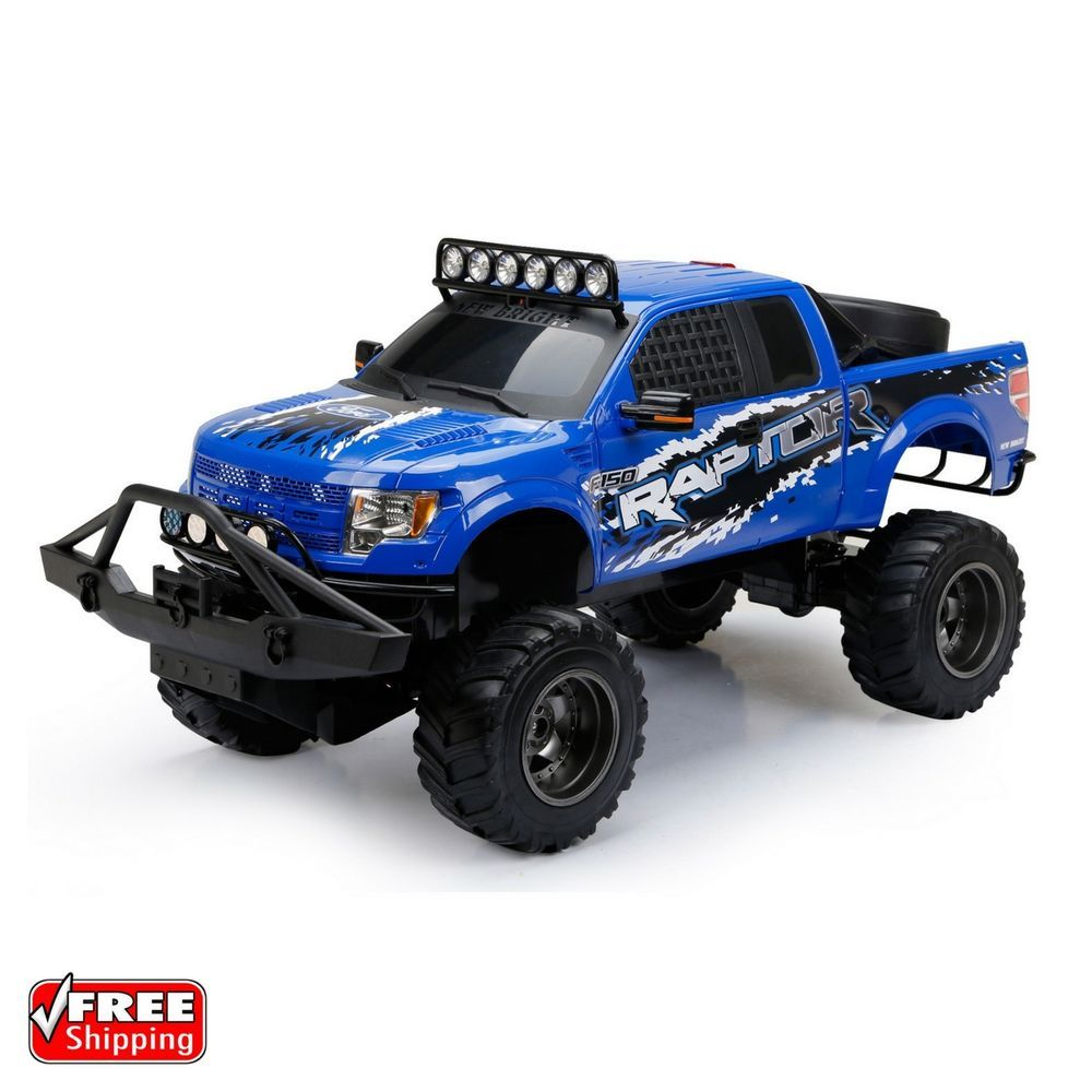 New Bright Rc 1 6 Scale Ford Raptor Truck Blue Newbright Ford