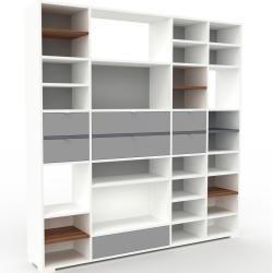 Photo of Regalsystem Weiß – Flexibles Regalsystem: Schubladen in Grau – Hochwertige Materialien – 193 x 196 x