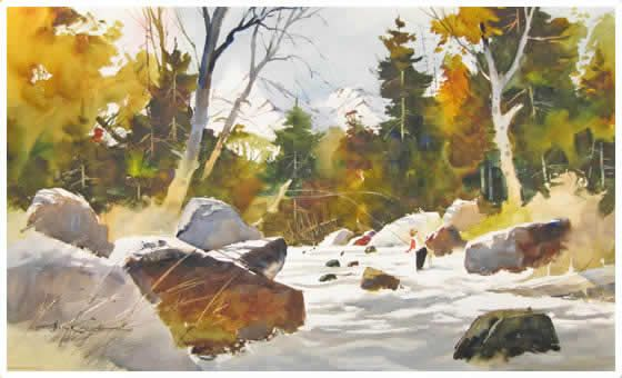 Watercolor Painting Artist Tony Couch How To Paint With