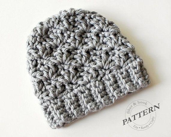 Crochet Pattern Newcastle Chunky Beanie Chunky Hat Pattern