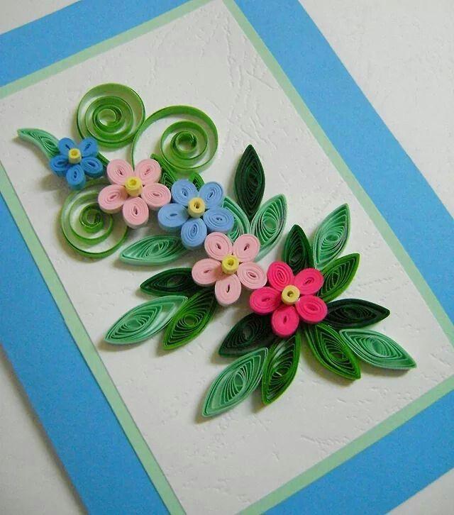Про девочек, открытка на день матери из квиллинга