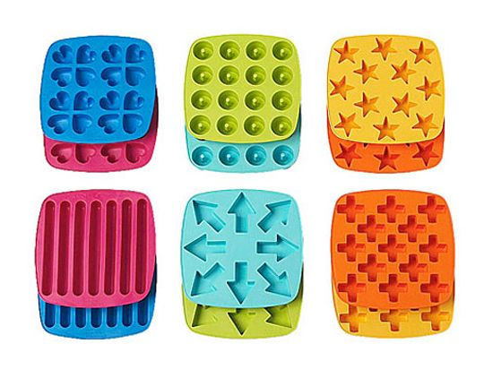 Silicone Cylindre Ice Cube Tray gel moule Pudding Gelée Chocolat Mold Maker