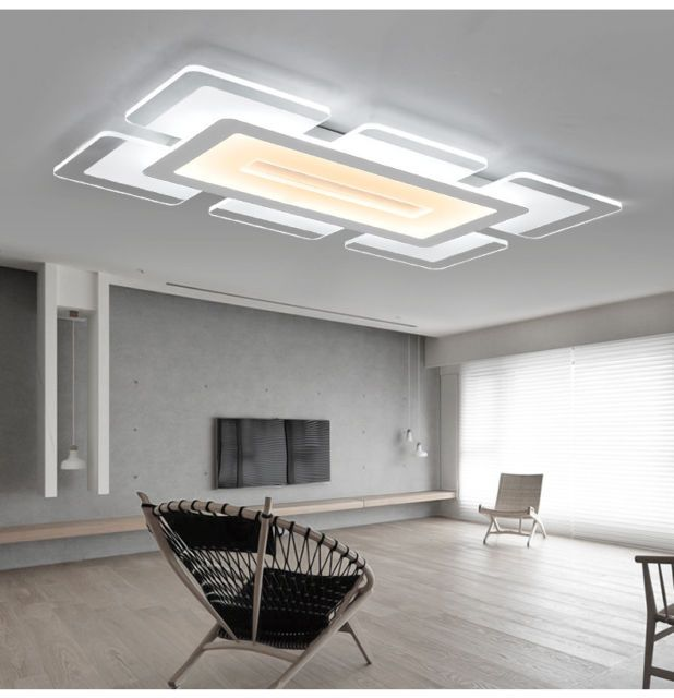 New Rectangular Acrylic Modern LED Ceiling Light Living Room Bedroom - Kitchen pendant lighting ebay