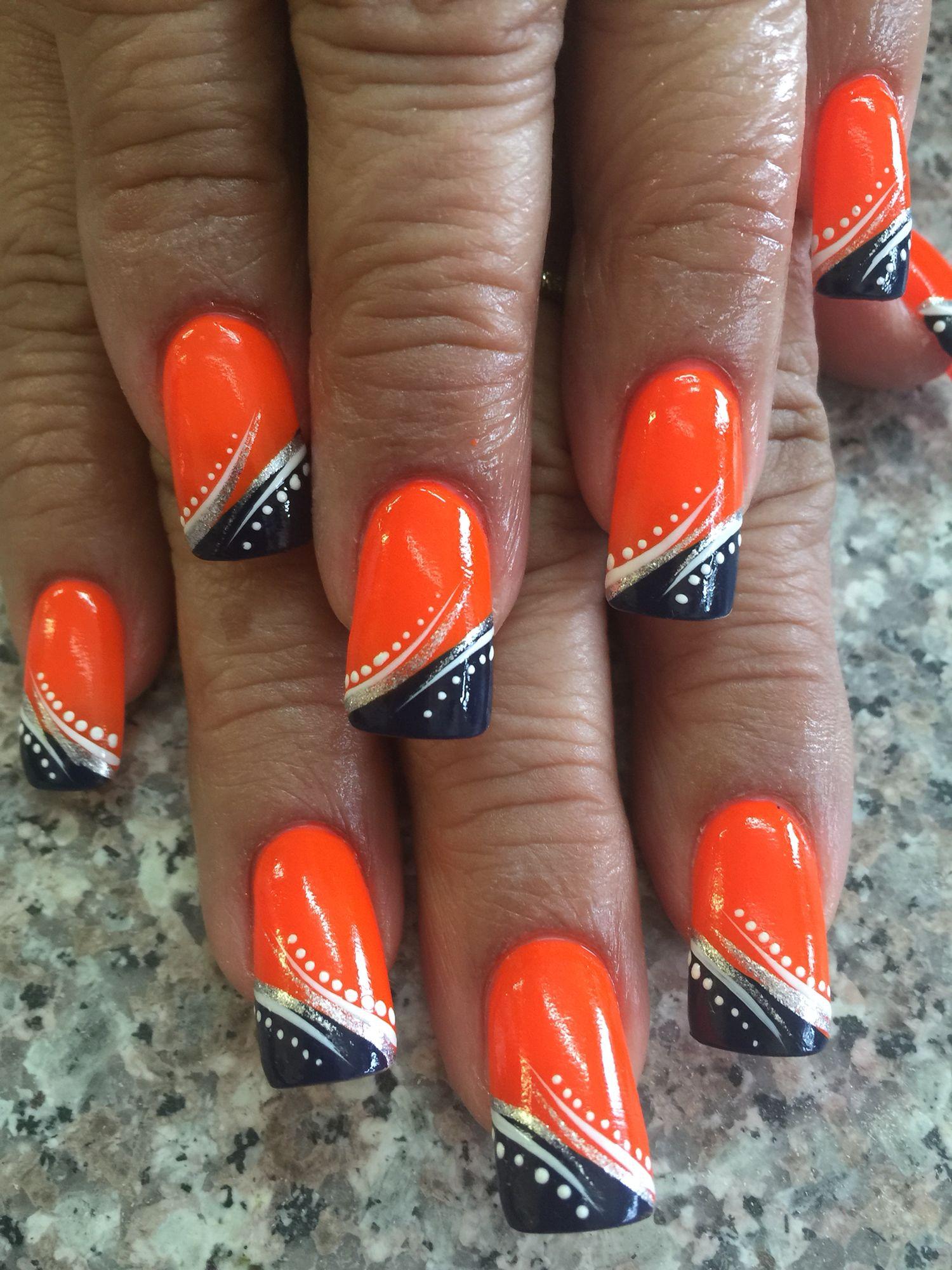 Broncos Denver Broncos Nails, Seahawks Nails, Football Nails, Tiger Nail Art,  Tiger - Broncos Broncos Nail Pinterest Broncos Nails, Denver Broncos
