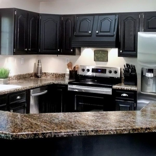 """Kitchen Cabinets Painting Kits: """"BlackDeco"""" Nuvo Cabinet Paint"""