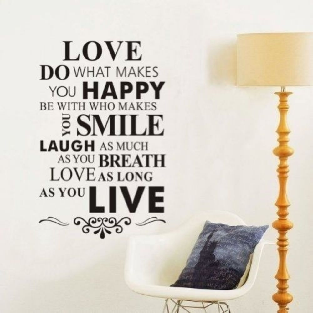 Love Quotes Wall Decal Mural Sticker DIY Art Removable Vinyl Home Decor  Stickers $9.99