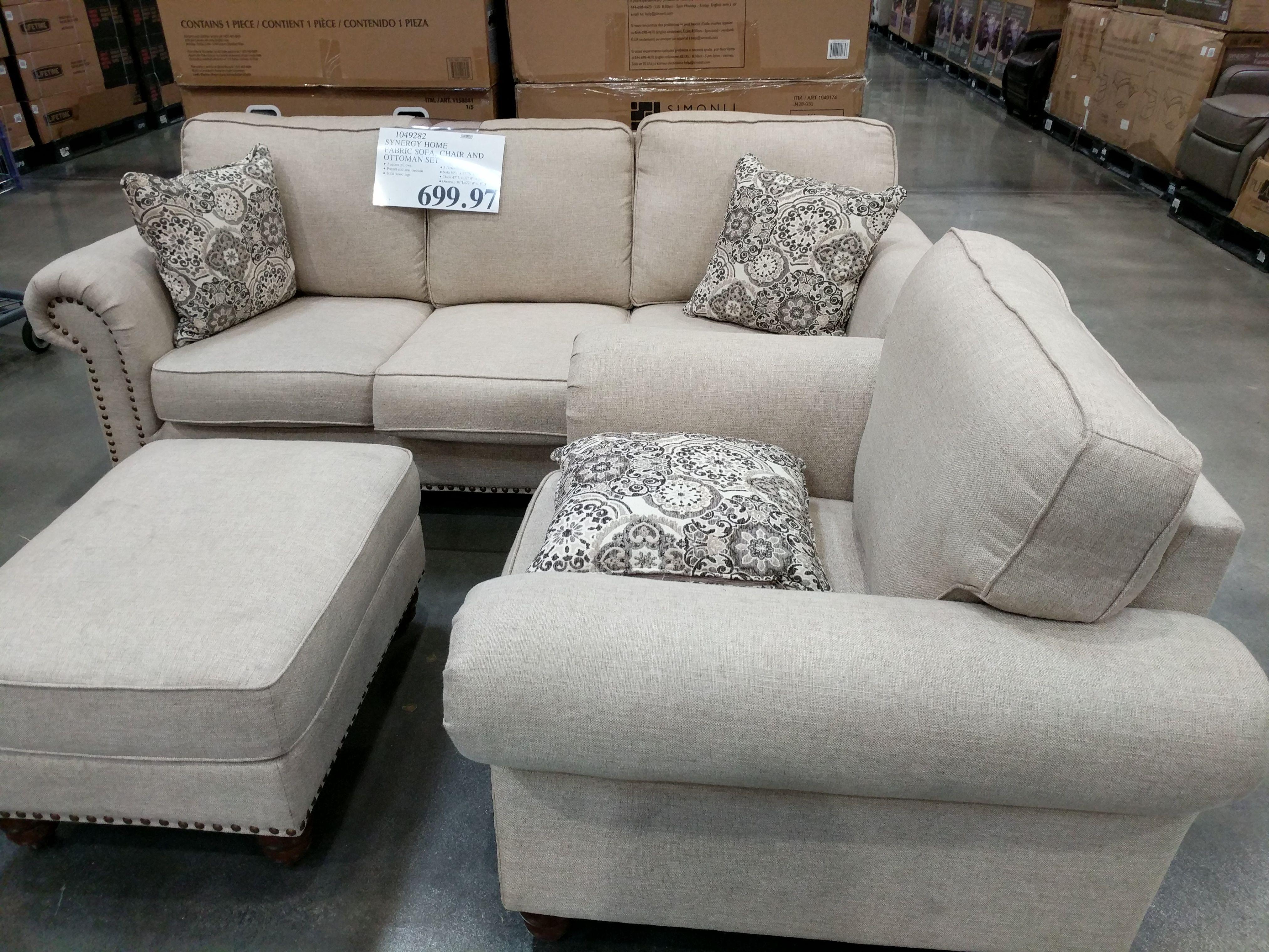Synergy Home Fabric Sofa Chair And Ottoman Set In 2020 Chair And Ottoman Set Fabric Sofa Chair And Ottoman