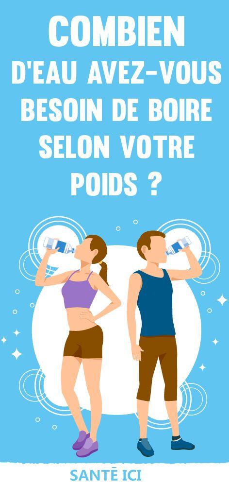 Combien d'eau avez-vous besoin de boire selon votre poids