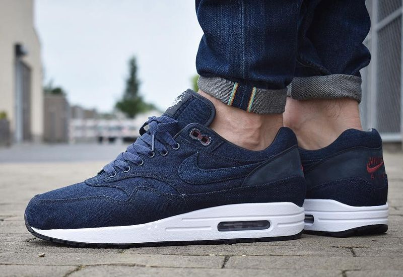 sports shoes 8cd8b 1c39e Chaussure Nike Air Max 1 ID Premium Denim Indigo Nowaki (3)