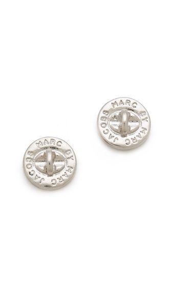Marc By Jacobs Turnlock Stud Earrings