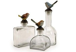 Clear glass botles