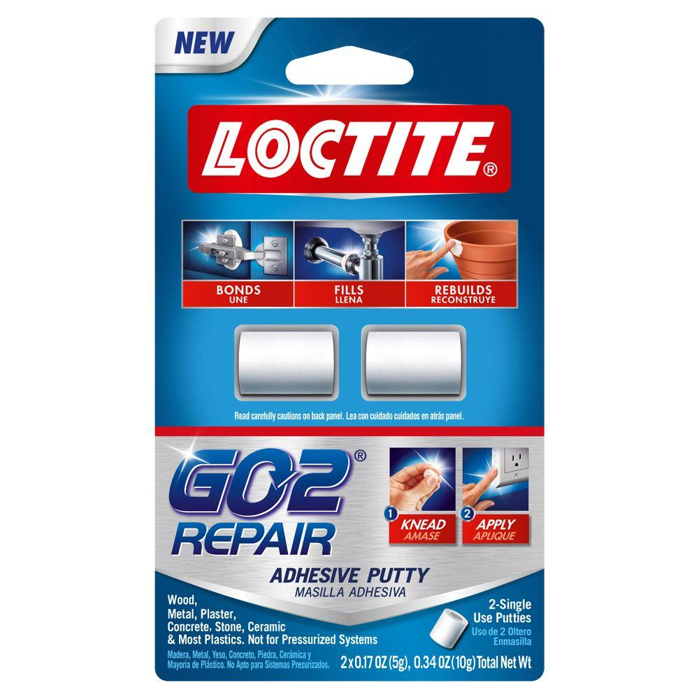 Loctite Go20 34 Oz Repair Putty 2 Pack 1722005 The Home Depot
