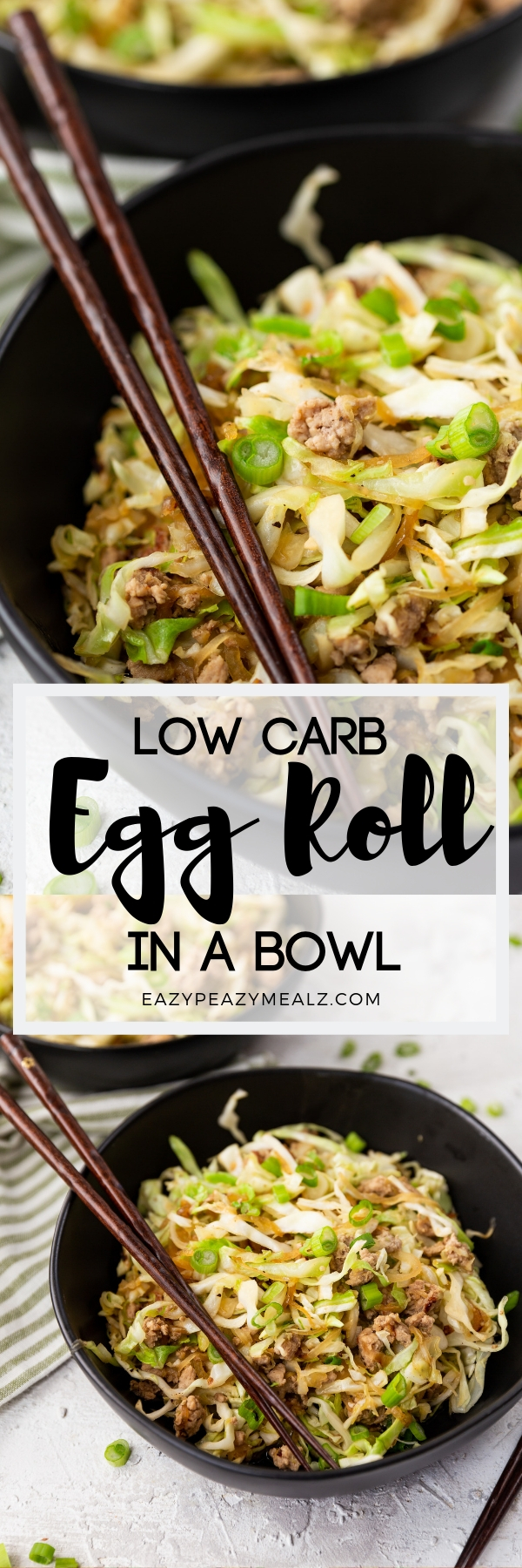 eggroll in a bowl #eggrollinabowl All the flavors you love from egg rolls in a low carb version, this egg roll bowl. #Eggs roll in a bowl Egg roll in a bowl (keto)