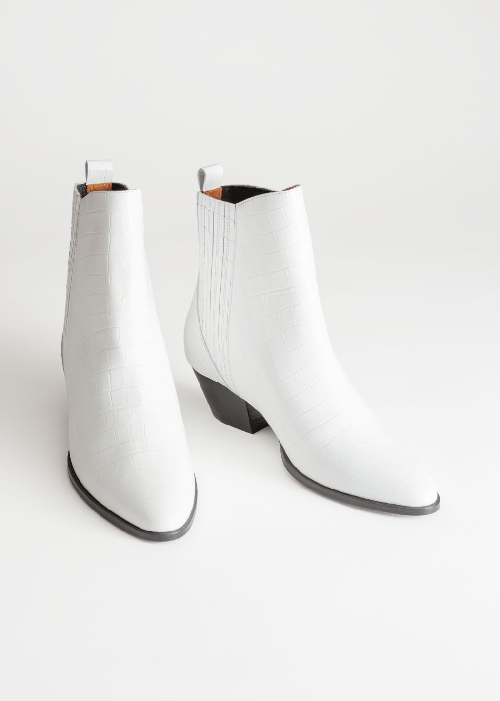 cf8841acfe2 Croc Embossed Low Cowboy Boots in 2019 | Shopping | White cowboy ...