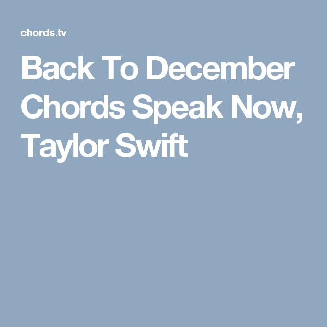 Back To December Chords Speak Now, Taylor Swift | U K U L E L E ...