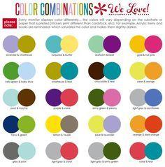 Colour Combinations image result for best color combinations | cricut | pinterest