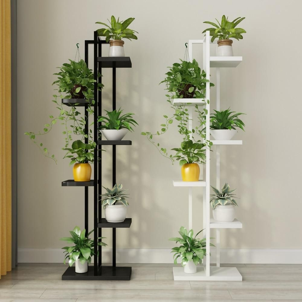 Multi tiered plant stand in 2019 plant stand house - Plant decoration in living room ...