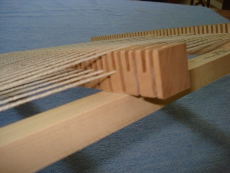 Lost Pond Looms Rotating Heddle Bar For Loom Weaving Etsy Loom Weaving Weaving Loom