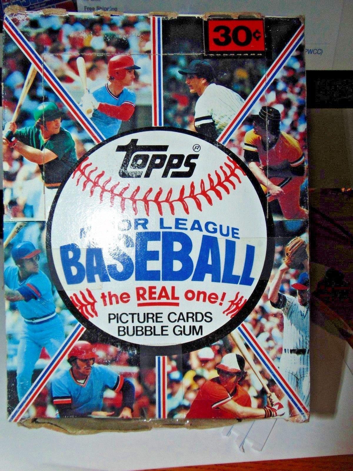 1981 topps baseball unopened wax pack box w 36 packs bbce