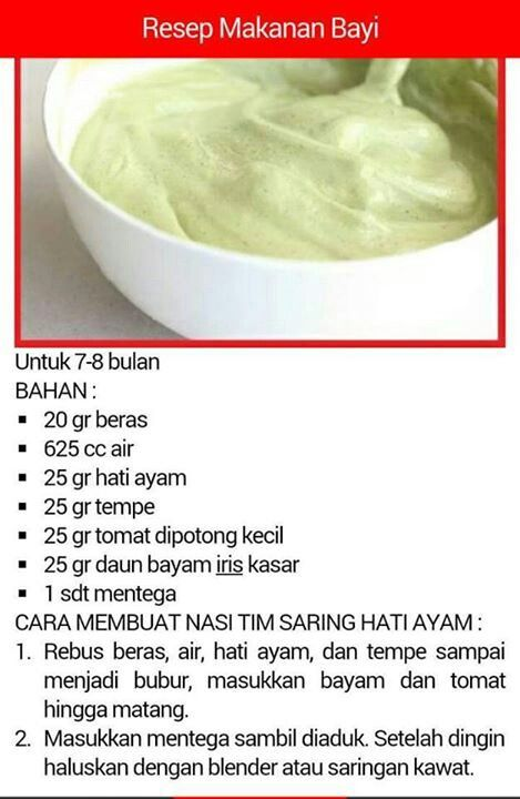Pin By Harni Chrisandha On Resep Makanan Bayi  Bulan
