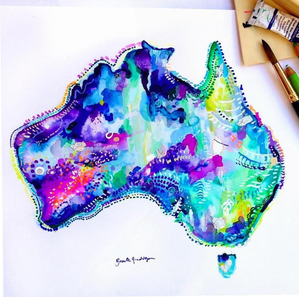 Australia Map Blue Australia map, Australia, Ocean