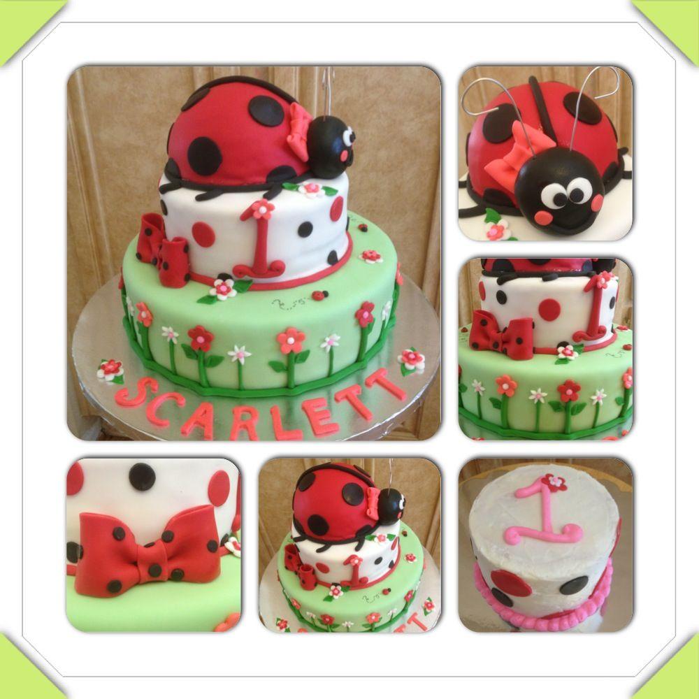 Ladybug First Birthday Cake And Smash Cake Facebook