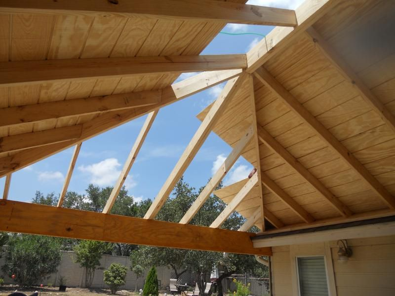 Hip Patio Cover Framing | Patio ideas | Pinterest | Patios ...