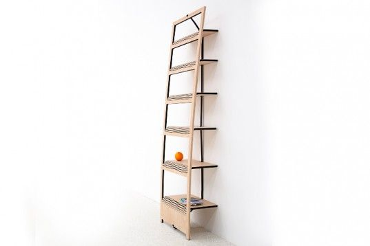 Tomas Schon39s Flat Pak A Board Becomes A Full Shelf With