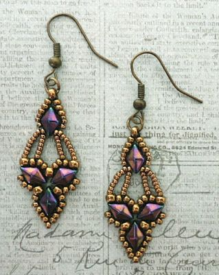 Linda's Crafty Inspirations: Free Beading Pattern - Arabella Earrings